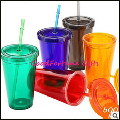 China promotion Advertising two layer plastic Tumblers Mugs supplier