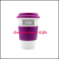 China Silicon Lid Cooler ceramic coffee Mugs promotion gift supplier