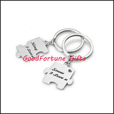 China puzzle metal keychain keyrings promotion gift supplier