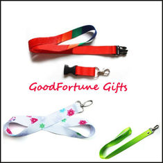 China Printed logo Coloured Lanyard promotion gift supplier