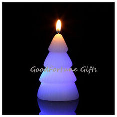 China religious christmas halloween coloured Eco led glow flash candle wax supplier