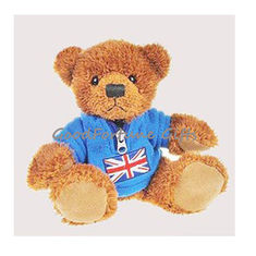 China plush T-shirt stuffed brown customed plush bear printed logo supplier