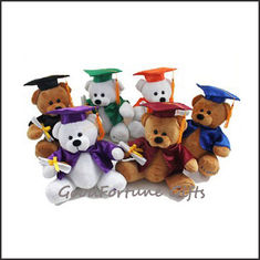 China customed logo plush teddy college graduation bears gift supplier