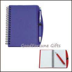 China Sell Gift Plastic Notebook With Pen Diary Printed Logo supplier