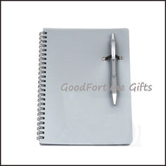 China Sell pp notebook memo pads with pen printed logo supplier
