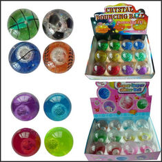 China Promotion crystal led flash Bouncy bouncing ball toy printed logo supplier