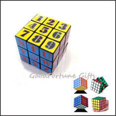 China customed logo Eco printed logo magic cube block square promotion gift toy supplier