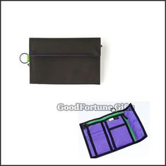 China Good promotional high quanlity 2 fold polyester wallet purse gift logo supplier