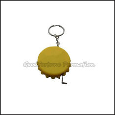 China customed promotional gift printed logo tape bottle caps lid cover keychain keyrings supplier