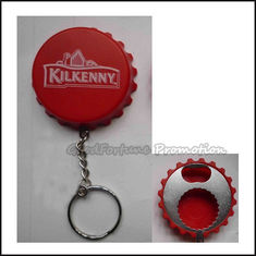 China customed promotional gift printed logo bottle opener caps lid cover keychain keyrings supplier
