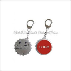 China customed promotional gift printed logo radio bottle caps lid cover keychain keyrings logo supplier