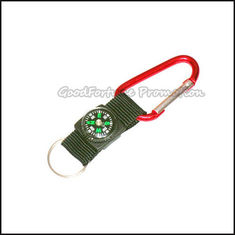 China Eco customed promotional printed logo mug carabiners keychain keyrings with compass supplier