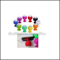 China promotional ball shape silicon Mp4/mp3 iphone computer speaker audio sound with sucker supplier