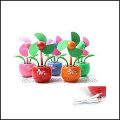 China Hot Sale Customed promotional Eco ABS apple sun desk usb flower mini fan printed logo gift supplier