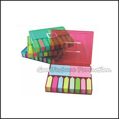 China Customed promotion printed logo Eco Abs sticky notes post it memo pad note gift supplier