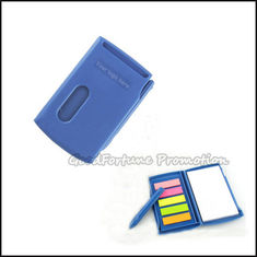 China Customed promotion printed logo Eco Abs sticky notes post it memo pad note gift with pen supplier