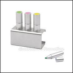 China Customed promotion 3pcs set desk Printed logo advertising glitter highlighter marker gift supplier