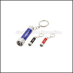 China Customed promotion 5 led advertising led flashlight torch keychain keyrings Printed logo supplier