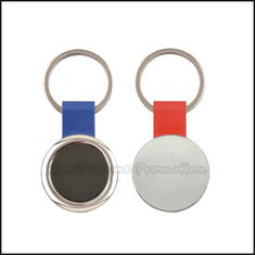 China Hot Sale promotional logo advertising loop rotary silver keychain keyring business gift supplier