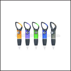 China Hot Sale Promotional customed printed logo carabiners ballpoint pen with compass gift supplier