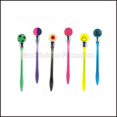 China Hot Sale Cheap Promotional printed logo led light ball shape smile ballpoint pen gift supplier