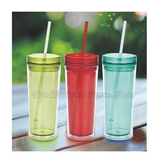 China Promotion two layer plastic tumbler mug water drink cup bottle gift supplier