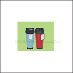 China Promotion Coloured printed logo two layer plastic tumbler mug water drink cup bottle gift supplier