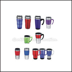 China Promotion printed logo travel car two layer stainless steel mug water drink cup bottle supplier