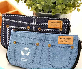 China Jean Style Pen Pencil Cosmetic Storage Pouch Bag Case promotion gift supplier