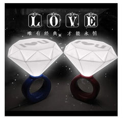 China New creative gift product diamond ring style night light lamp supplier
