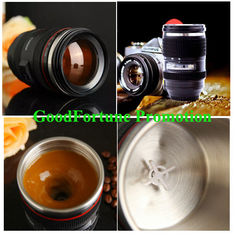 China New promotion gift creative gift product self-stirring camera lens coffee cup mugs supplier