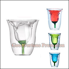 China New promotion gift creative product gift rose shape clear beer wine coffee mugs supplier