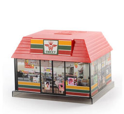 China New promotion gift creative product shopping store house shape saving bank supplier