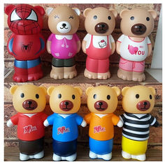 China New promotion gift creative product soft rubber bear shape saving bank money box supplier