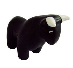 China New promotion gift creative product bull shape Relief Stress Ball customed logo supplier