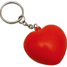 China New promotion creative product heart Stress keyring customed logo supplier