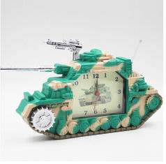 China New creative gift product tank alarm clock toy supplier