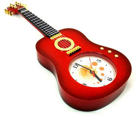 China New creative gift product guita violin alarm clock toy supplier