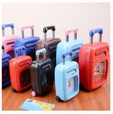 China New creative gift product luggage case shape alarm clock toy supplier