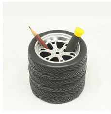 China New creative gift product tyre shape pen holder supplier