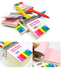 China New creative gift product paint brush sticky note memo pad supplier