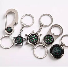 China New creative gift product metal compass keychain keyrings supplier