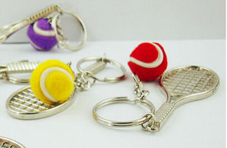 China New creative gift product tennis keychain keyrings wedding gift supplier