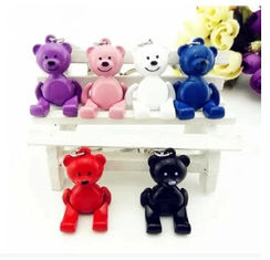 China New creative gift product rotary hand and foot teddy bear keychain keyrings supplier