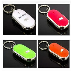 China New creative gift cheap hot sale whistle key finder keychain keyrings with sound supplier