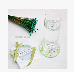 China New creative promotion gift product wedding gift party glass coaster mat supplier