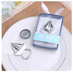 China New creative promotion gift product wedding gift ship bottle opener supplier