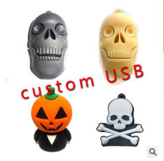 China New promotional customed logo halloween soft pvc usb flash drive disk supplier