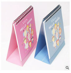 China New promotional customed logo festival pattern desk calendar supplier