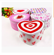 China New promotional gift customed logo round heart shape tin package gift candy box case supplier